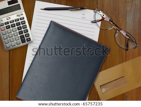 Documents on the table