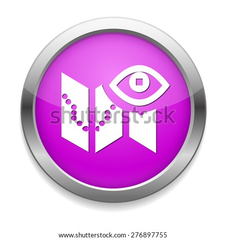 Documents search icon - stock photo