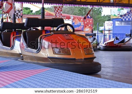 Dodgem Cars - stock photo