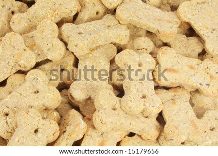 Dog Biscuits Snack Treats Taken as Full Background
