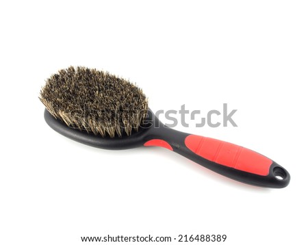 Dog brush on a white background