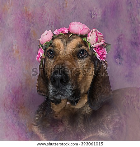 Dog Flower Headpiece