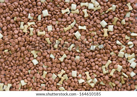 Dog food background - stock photo