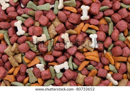dog food background - stock photo