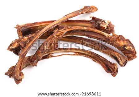 dog food, dry rib - stock photo