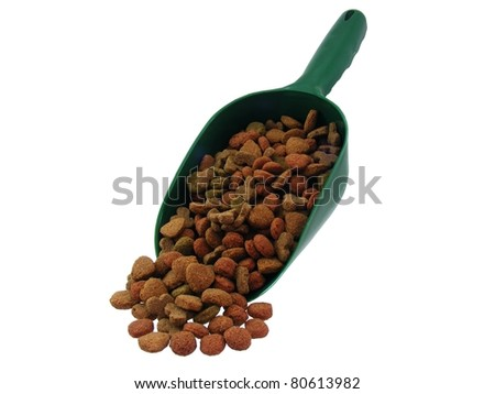 Dog Food in a Scoop - stock photo
