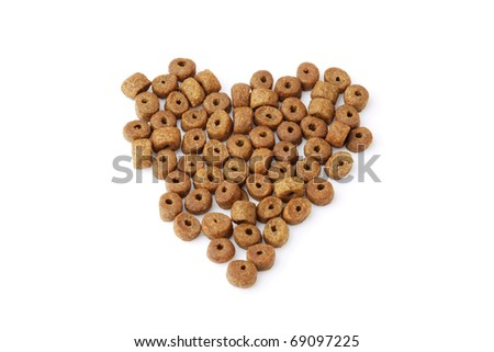 dog food isolated - stock photo