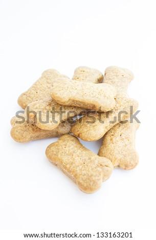 Dog food shaped bone - stock photo