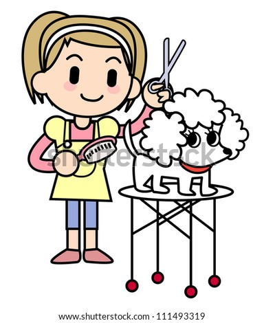 Dog groomer - stock photo