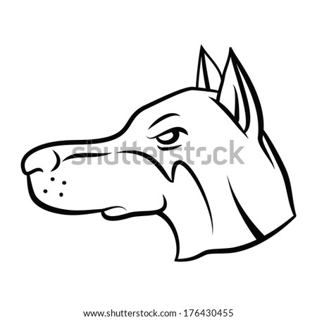 Dog Head Vector Illustration