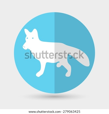 dog icon on a white background