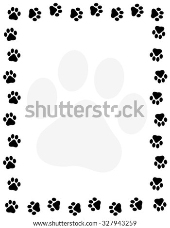 Pawprint walking stock images royalty free images vectors shutterstock - Paw print wall border ...