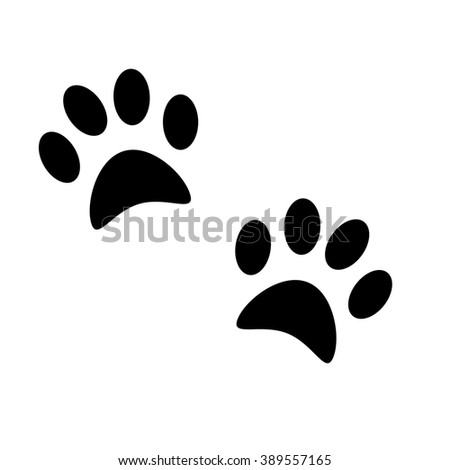 Dog's paw print. Pets icon. Illustration.