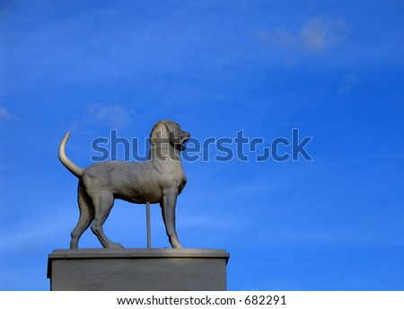 Dog Statue - stock photo