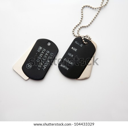 dog tag/army  chains - stock photo