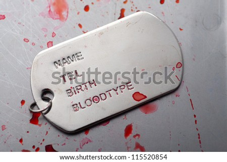dog tag/army chains of soldiers of injury