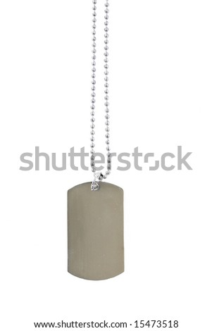 Dog Tag on White Background