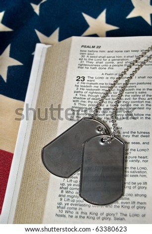 dog tags on Psalm 23