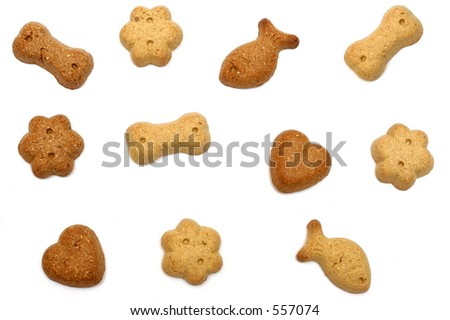 Dog treats, isolated - stock photo