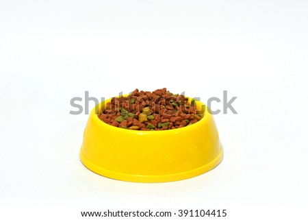 dogs food - stock photo
