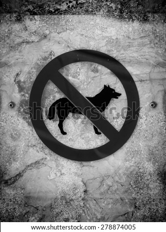 dogs not allowed sign  - stock photo