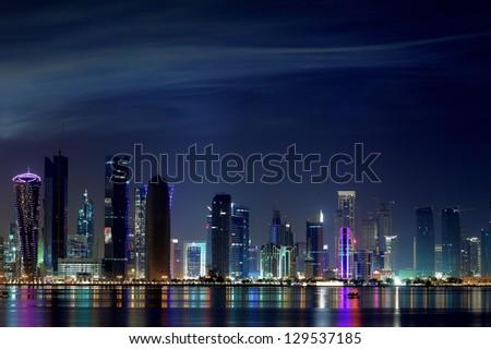 Doha Skyline - stock photo
