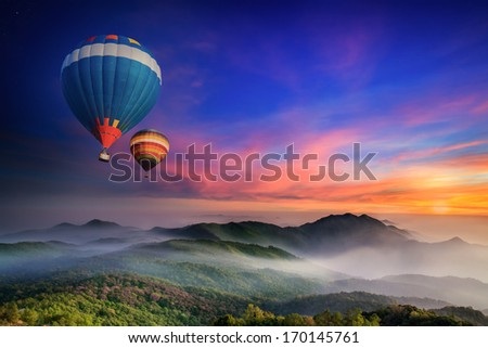 Doi Inthanon National park in the sunrise and main road at Chiang Mai Province, Thailand - stock photo