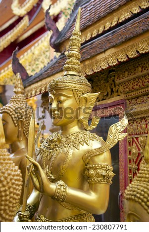Doi Suthep temple in Chiang Mai Thailand - stock photo