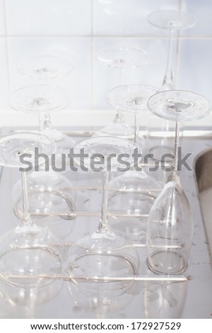 doing the dishes is the least attractive chore but it has to be done. - stock photo