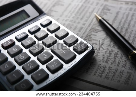 Doing the finances - stock photo