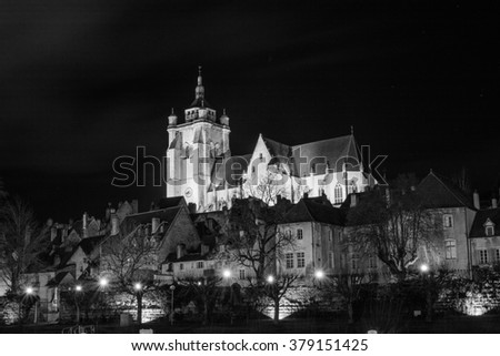Dole french city by night