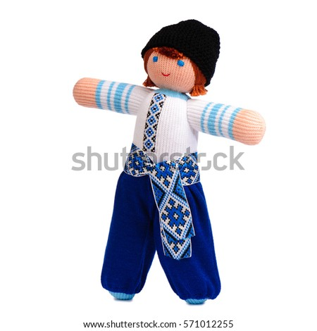 Doll in national Russian costume.