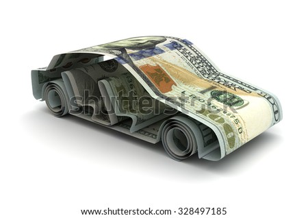 Dollar and Car - stock photo