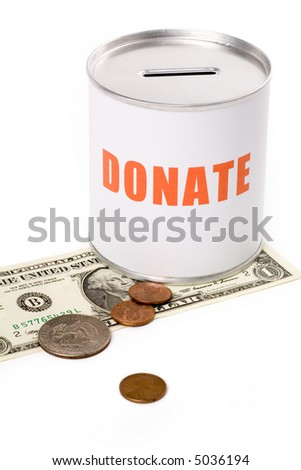 dollar and Donation Box, concept of Donation