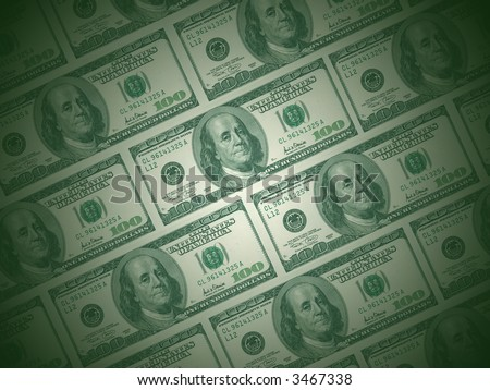 dollar as a background - stock photo