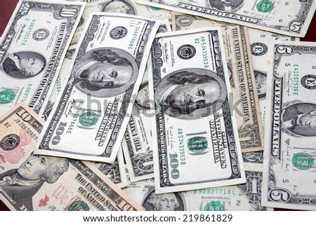 dollar as symbol credit money system - stock photo
