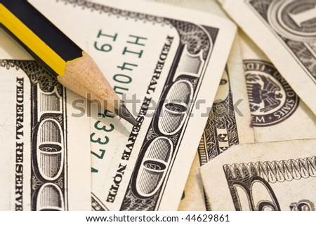 Dollar background - stock photo