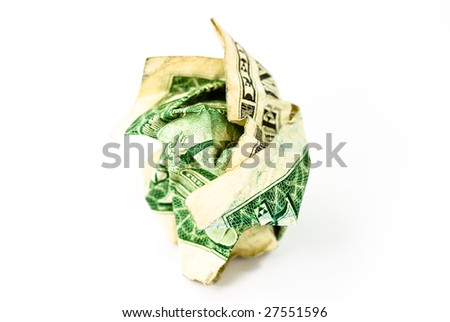 dollar bank note on white background - stock photo