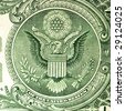 dollar banknote closeup - stock photo