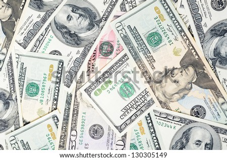 Dollar banknotes, business money as a background - stock photo