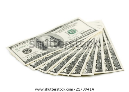 Dollar banknotes isolated