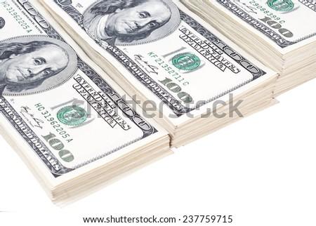 dollar banks note money isolated - stock photo