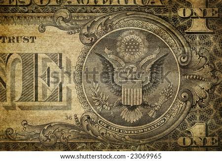 Dollar Bill Detail - stock photo