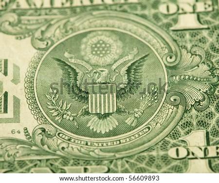dollar closeup - stock photo