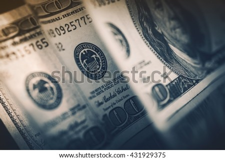 Dollar Currency Cash Money. Banking and Financial American Dollars Banknotes Concept Photo. - stock photo