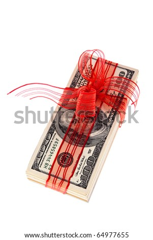 Dollar Currency notes for a gift - stock photo