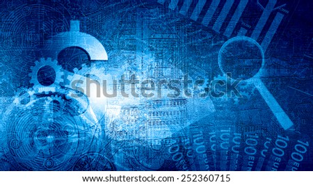 Dollar currency sign graph and diagrams against digital background - stock photo