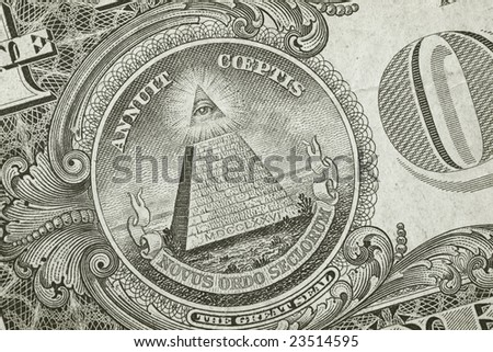 Dollar Detail Pyramid - stock photo