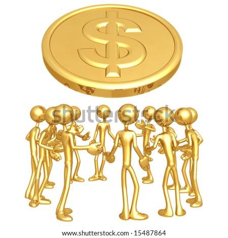 Dollar Forum - stock photo