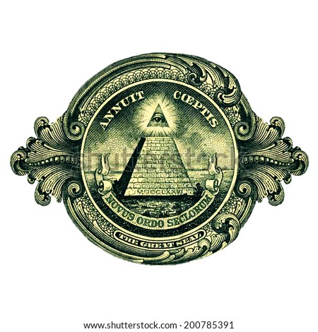 Dollar, Great Seal, Pyramid Eye - stock photo